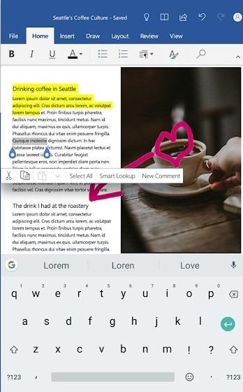 برنامه Microsoft Word ؛ نسخه اندروید مجموعه آفیس | رسانه چیکاو