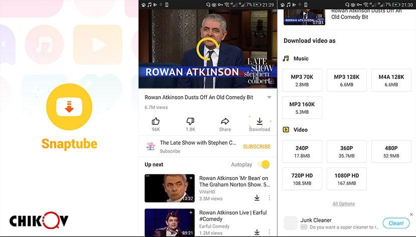 برنامه snaptube - رسانه چیکاو