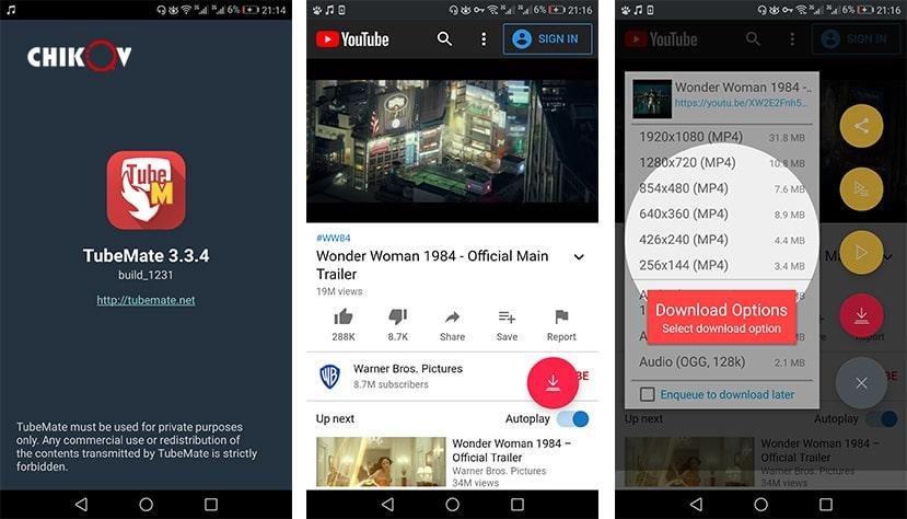 برنامه دانلود از یوتیوب تیوب میت TubeMate - رسانه چیکاو