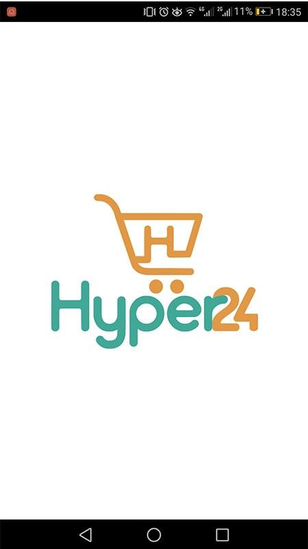صفحه شروع برنامه سوپر مارکت آنلاین هایپر 24 - چیکاو