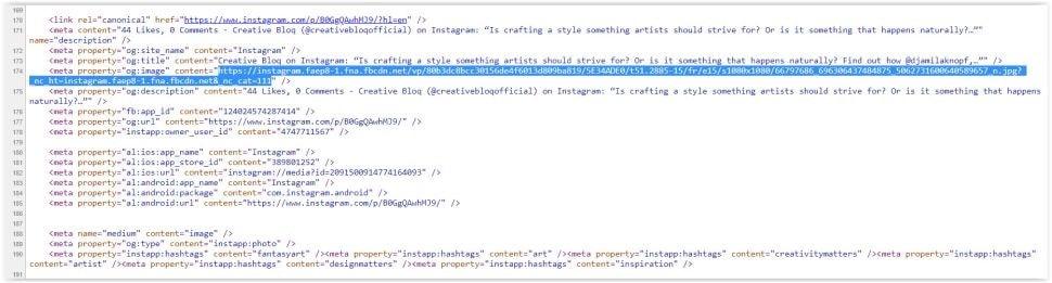کپی کردن کد منبع برای دانلود از اینستاگرام - چیکاو