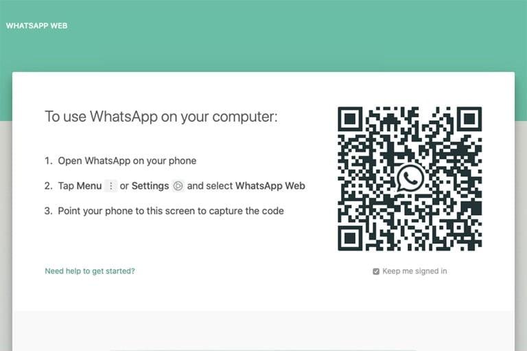 با اسکن بارکد به واتساپ خود متصل پوید - چیکاو