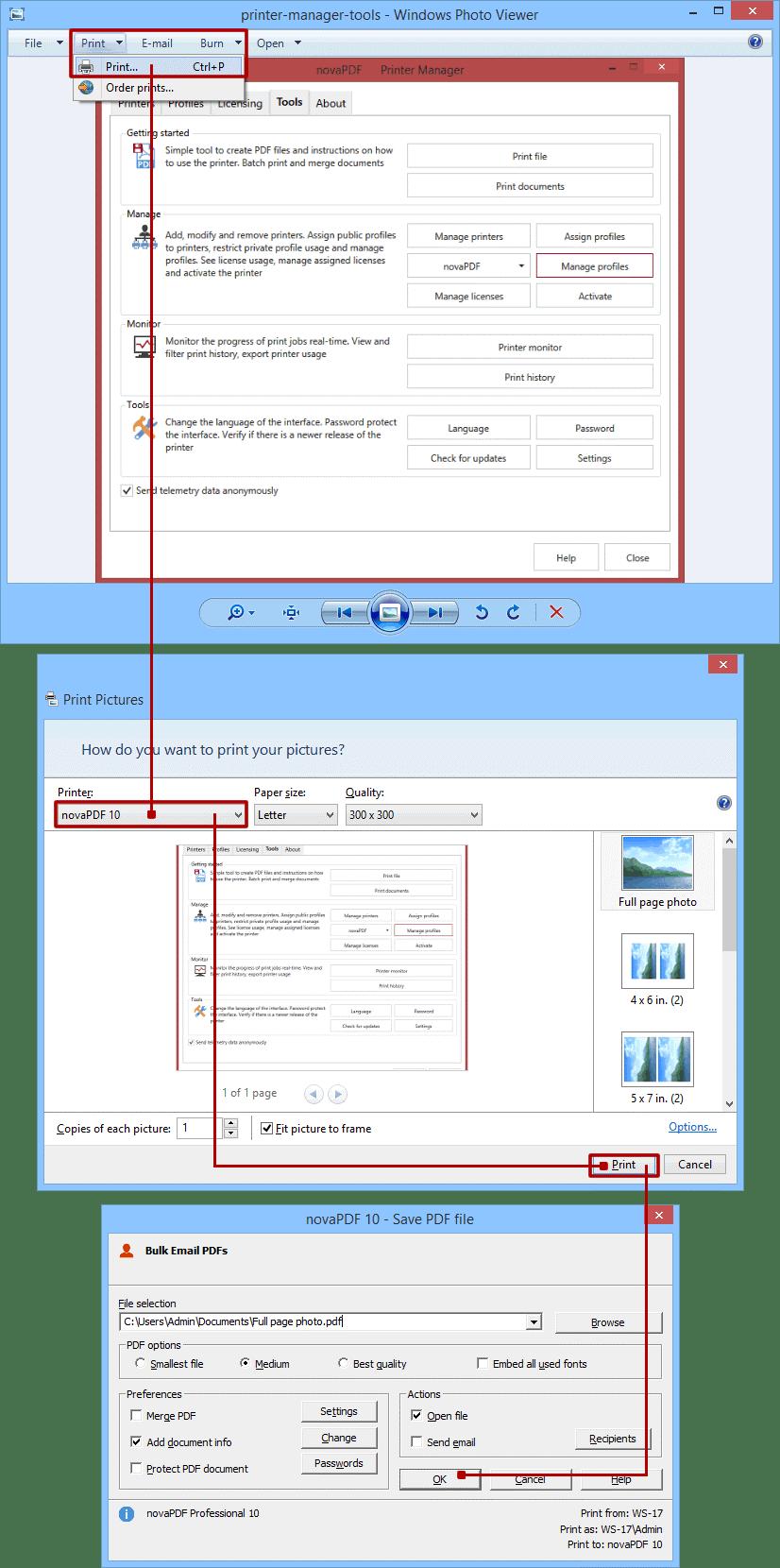 Windows Photo Viewer بهترین نرم افزار تبدیل عکس به پی دی اف - چیکاو