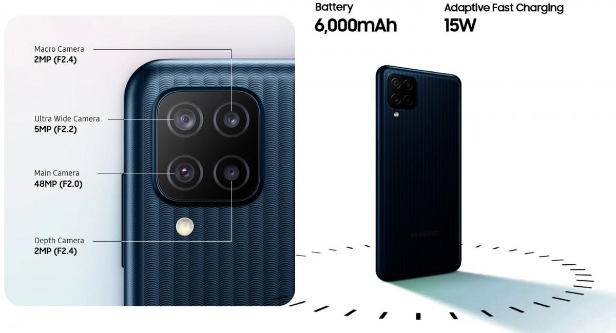 4 لنز تعبیه شده در گوشی M12 سامسونگ - چیکاو