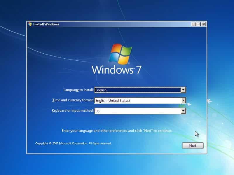 آموزش نصب ویندوز 7 - چیکاو