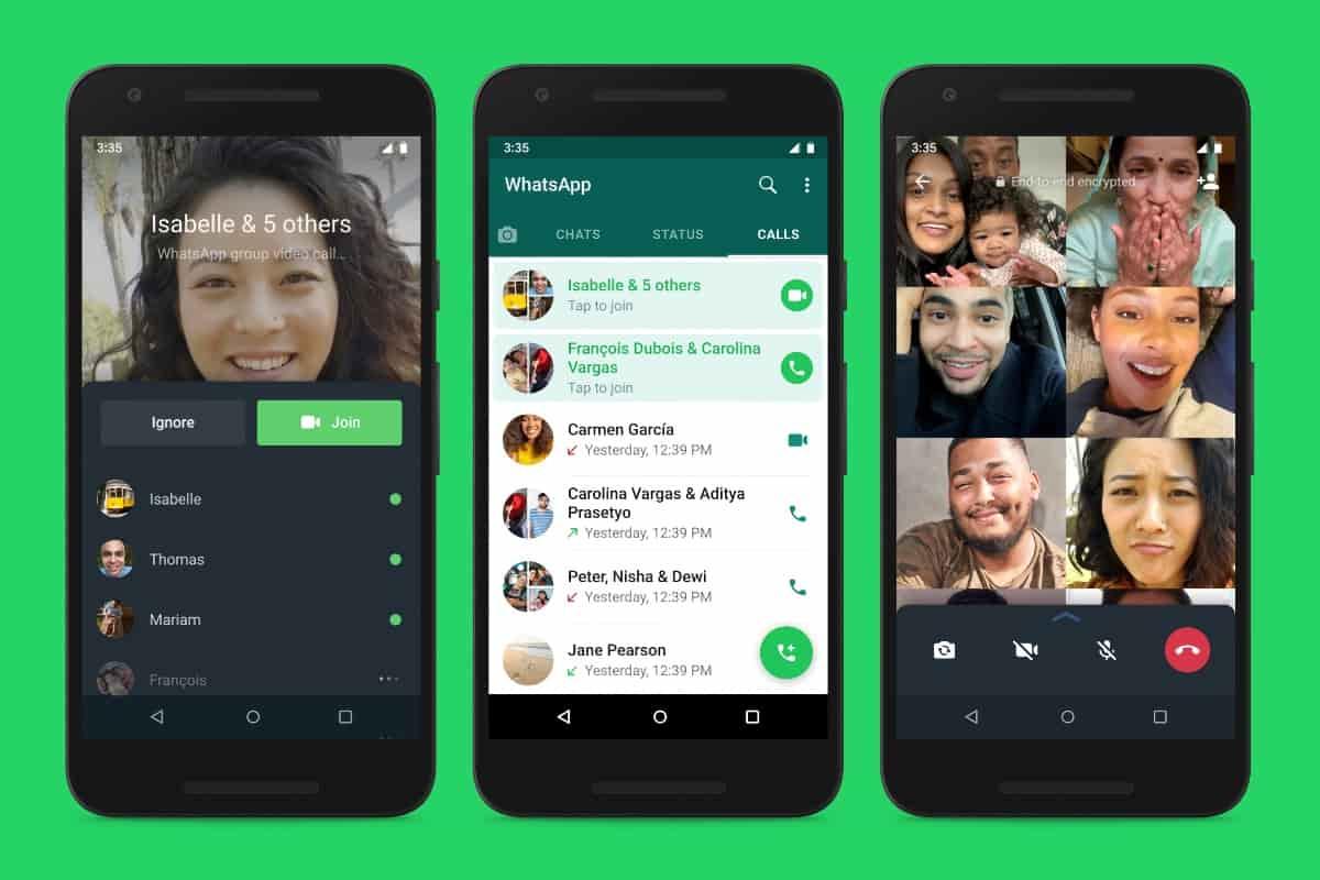 قابلیت جدیدی برای تماس های گروهی واتساپ ارائه شد - چیکاو
