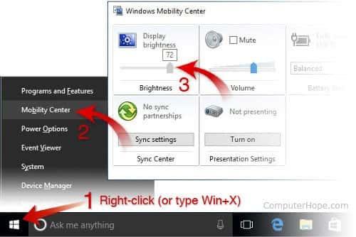 windows mobility center - چیکاو