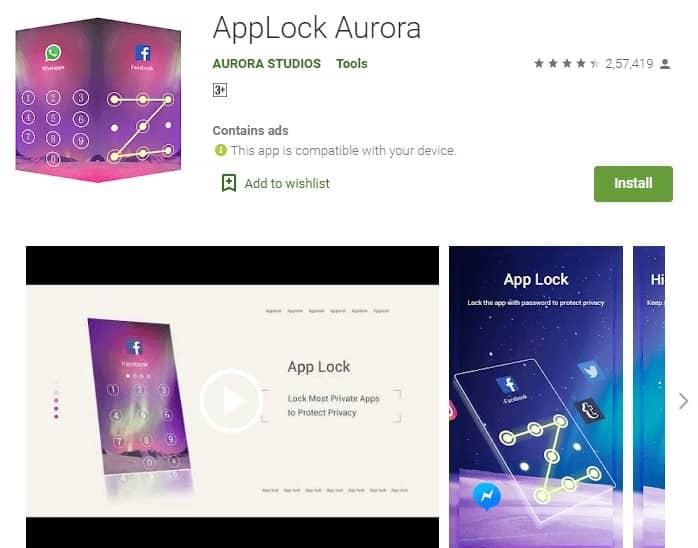 Applock Aurora - چیکاو