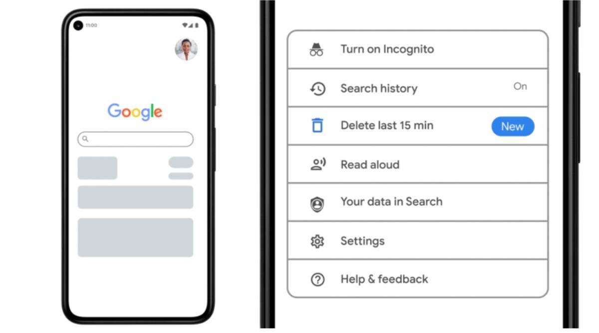 قابلیت حذف تاریخچه جستجوی 15 دقیقه قبل در گوگل ارائه شد - چیکاو