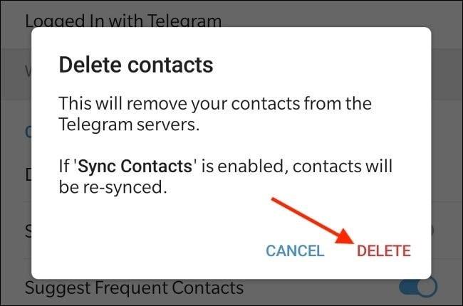 نحوه حذف مخاطبین تلگرام به صورت یکباره - چیکاو
