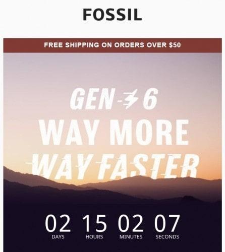 صفحه وبسایت شرکت فسیل برای معرفی ساعت هوشمند خود - چیکاو