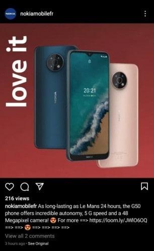 پنل پشتی و جلویی گوشی نوکیا جی ۵۰ ۵جی (Nokia G50 5G) - چیکاو