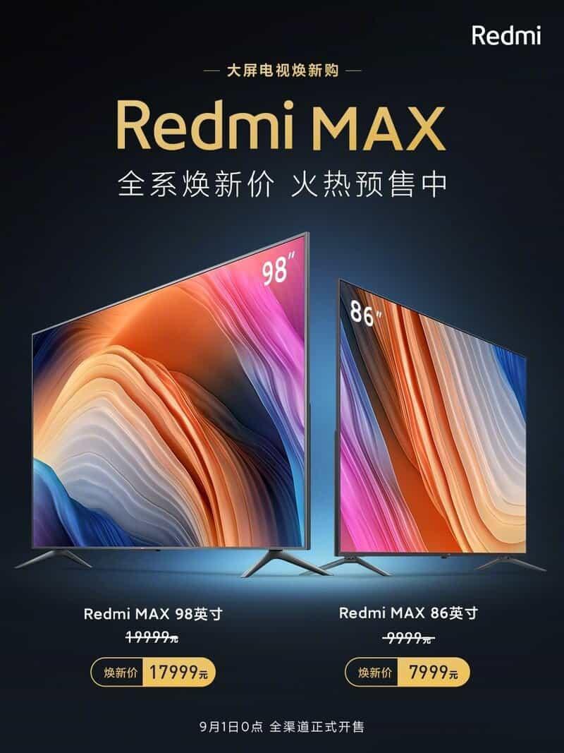 شیائومی قیمت تلویزیون های ردمی مکس ۸۶ و ۹۸ اینچی را کاهش داد - چیکاو