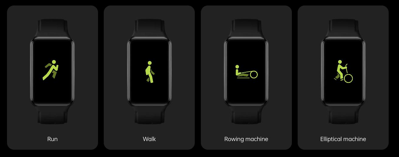 ورزش های موجود در ساعت هوشمند اوپو واچ فری - چیکاو