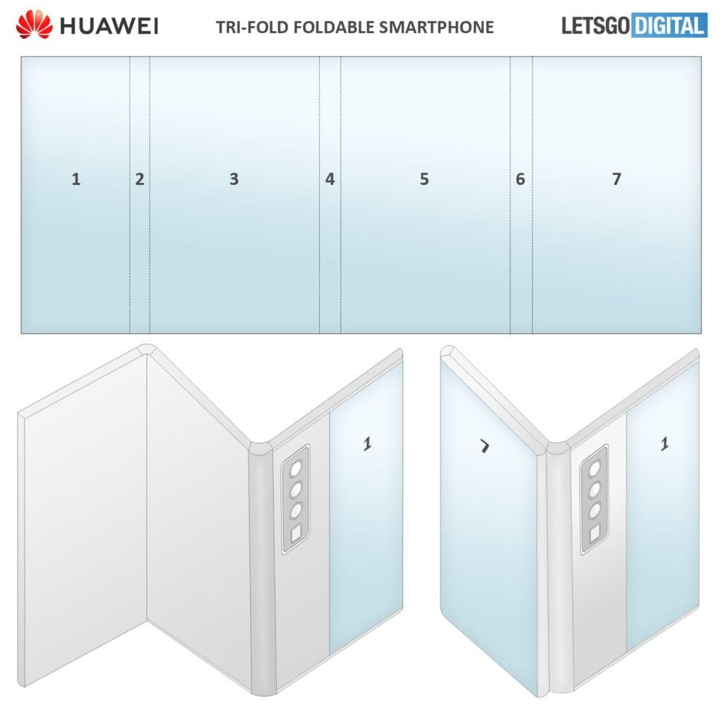 تلفن هوشمند تاشو با نام هواوی میت فولدبل (Huawei Mate foldable) - چیکاو