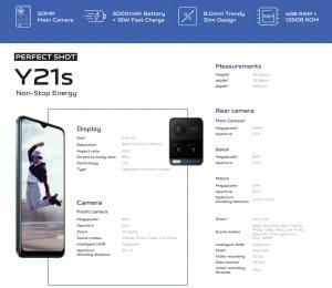مشخصات دوربین گوشی هوشمند ویوو وای ۲۱ - vivo Y21 - چیکاو