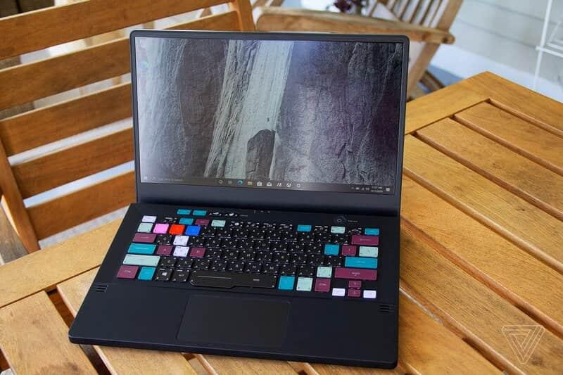 صفحه نمایش و صفحه کلید لپتاپ ایسوس راگ زفیروس جی ۱۴ مشکی - چیکاو