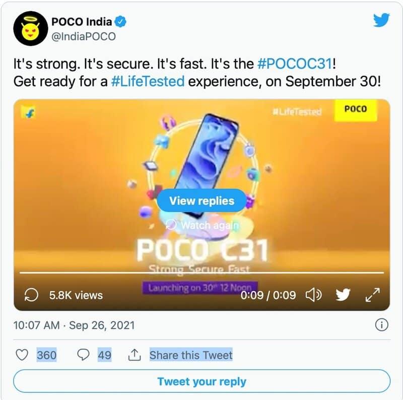 گوشی هوشمند پوکو سی ۳۱ تلفن سری جدید اوپو، در ۸ مهر ماه عرضه می شود - چیکاو