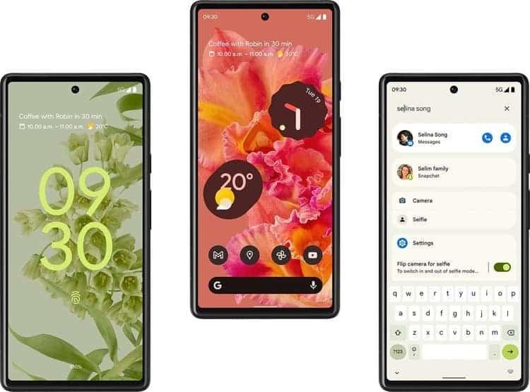 صفحه نمایش گوشیهای هوشمند گوگل پیکسل ۶ و پیکسل ۶ پرو - چیکاو